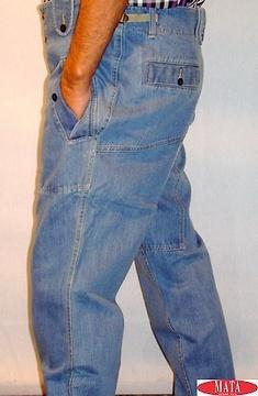Pantalón vaquero tallas grandes hombre 05467