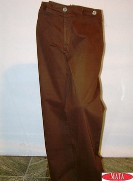 Vaquero mujer marrón 08185